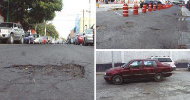 Baches por lluvias en Querétaro