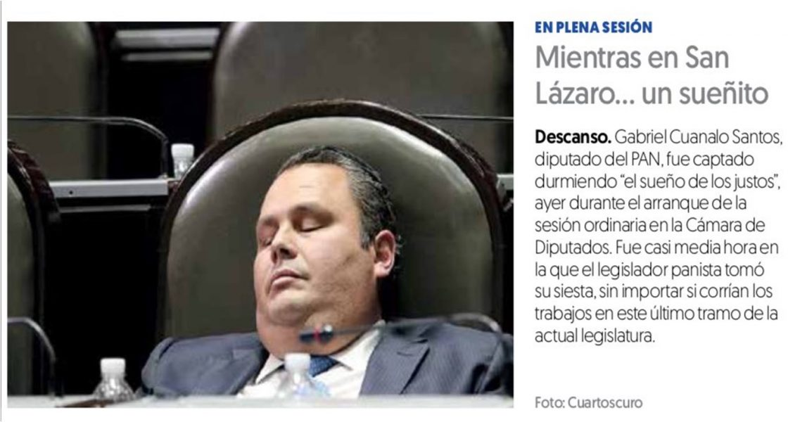 Photo of Niega Cuanalo dormir en sesión de pleno