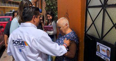 Alista Sosa su cierre de campaña para este domingo