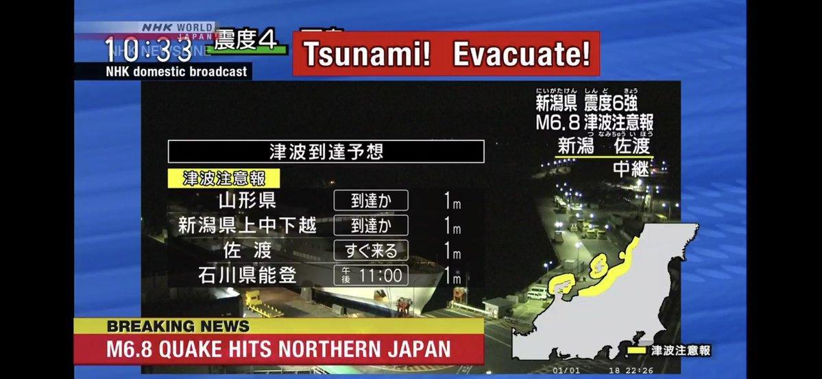 Photo of Emiten alerta de tsunami en Japón
