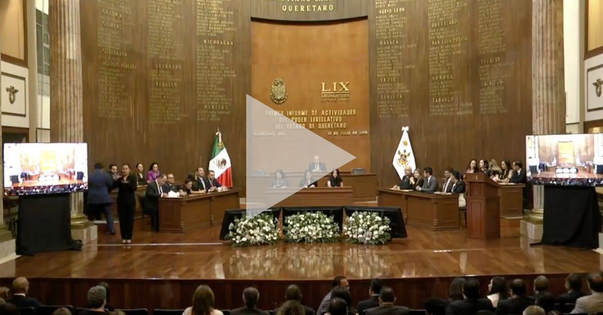 Photo of En Vivo – Primer Informe de la LIX Legislatura de Querétaro
