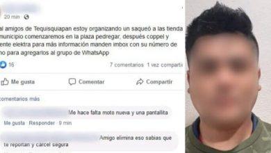Photo of Intentaba organizar saqueos en Tequisquiapan, ya está detenido